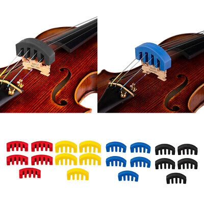 5pcs/pack Rubber Violin Muffler for Silent Acoustic Violin Instrument Accs