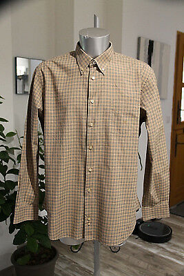 Pretty Shirt Tartan Cotton Man Burberry London Size XL (6) in Perfect Condition