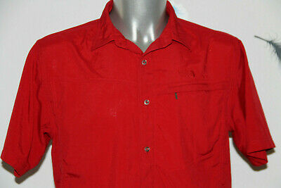 Pretty Sports Shirt Red Man the north face Size L/G like New