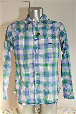 Pretty Chequered Shirt Blue for Men Napapijri Size M Mint