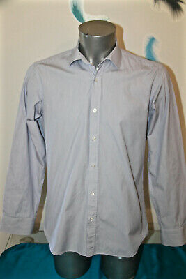 Luxurious Shirt Striped Blue Danyberd Size 39-40 (S) like New