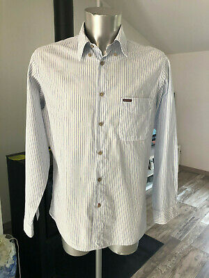 Pretty White Shirt Striped Marlboro Classics Size L Mint