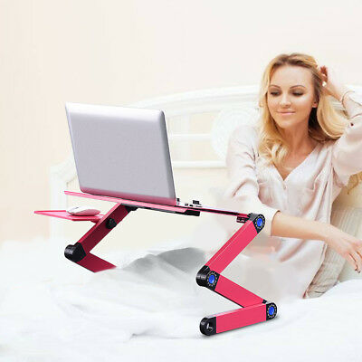 Portable Foldable Desk Laptop Table Computer Stand Tray Adjustable For Sofa Bed