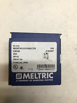 Meltric Corporation 63-14163 Recptacle Connector 208VAC 2HP