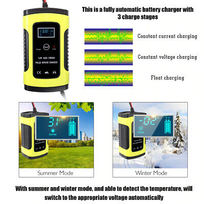 Charger Car Battery Starter Jump Power Booster 12v Smart Portable Bank Auto P9F4