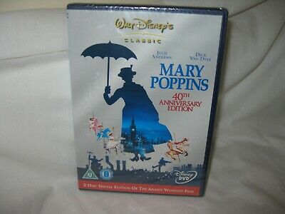 Mary Poppins 40th Anniversary Edition sealed 2-disc dvd.