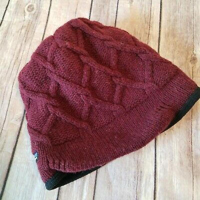 Women/'s PATAGONIA Cable Beanie #28995 Fleece Lined Headband Cable Knit Design