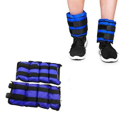 5KG Pair of Ankle Weights Strap Leg Wrist Running Boxing Bracelet Gym Workout