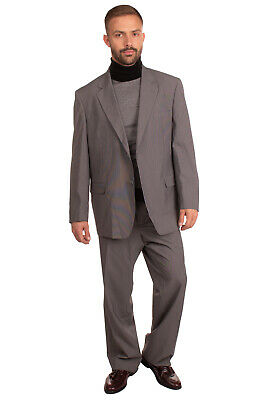 RRP €265 DOMENICO TAGLIENTE Suit Size 55 / 2XL Patterned Pleated Single Breasted