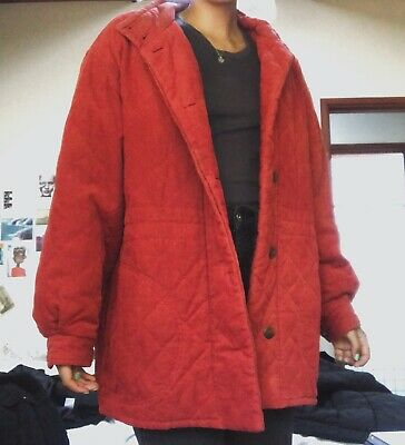 Vintage Country Road Coat Red Corduroy Size M