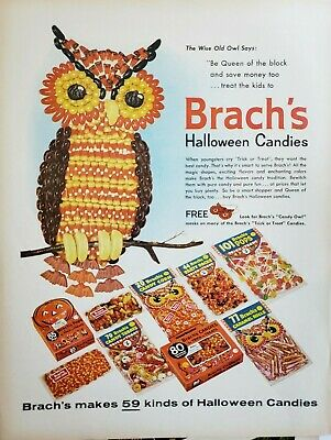 Lot of 3 Vintage Brach's Candy Ads Halloween Easter Christmas