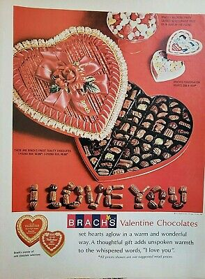 Lot of 3 Vintage Brach's Candy Refreshers Ads Boxed Chocolates