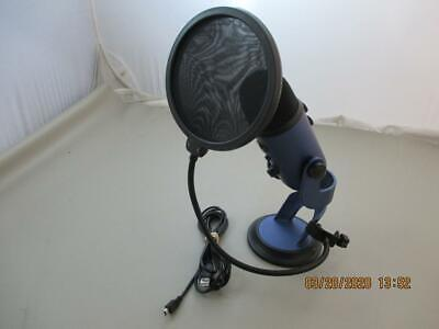 Blue Yeti USB Microphone With Cord and Pop Filter