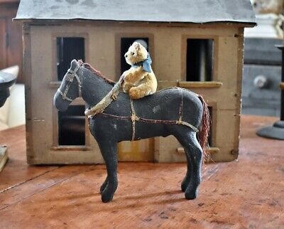 Antique Hand Carved Wooden Horse