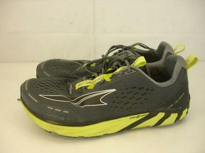 Mens sz 10 M Altra Torin 4 Road Running Shoes Gray Lime Lightweight Zero Drop