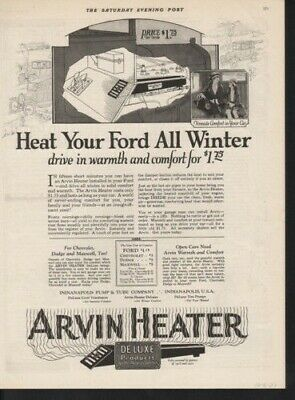 1923 Arvin Heater Ford Winter Snow Auto Indianapolis Ad13017