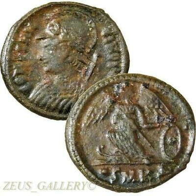 CONSTANTINE The Great X RARE RIC R4 Victory Ship Prow Ancient Roman Empire Coin