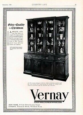 1936 Vernay Furniture Mahogany Break Front Cabinet Ad6318