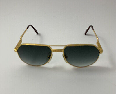 Hilton Exclusive 021 C2 24Kt Gold / Green Gradient Sunglasses Sonnenbrille
