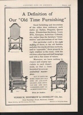 1908 Verbeck Whybrow Crossley Renaissance Furniture Ad 10442
