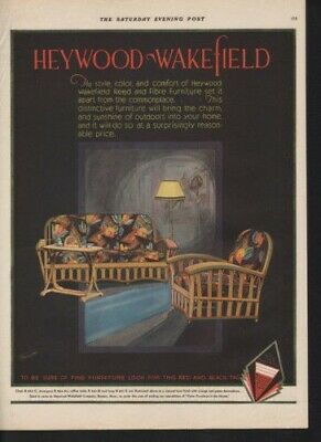 1920 Heywood Wakefield Furniture Lamp Chair Couch Ad  10723