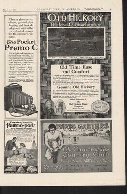 1911 Old Hickory Outdoor Wood Furniture Home Decor Ad 10803