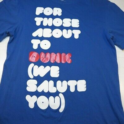 NIKE For those about the Dunk / Rock We Salute You TEE T SHIRT Mens M Basketball