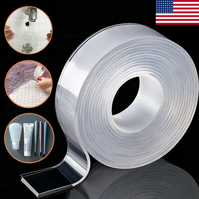 9.8/16.4ft Reusable Nano Magic Double-Sided Washable Tape Traceless Adhesive Gel