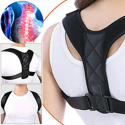 Posture Corrector Adjustable Upper Back Brace Clavicle Support Neck Pain Relief