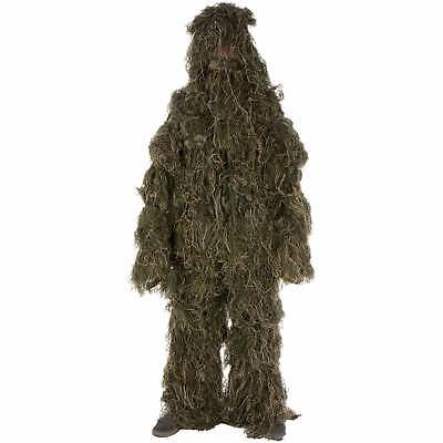 Ghillie Suit 3-piece Set Adult Size Woodland and Forest Brown, Beige, Green