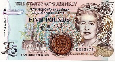 GUERNSEY £5 Pounds ND 2007 P56c UNC Banknote