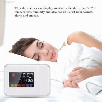 5137 Plastic Weather Station Clock Multifunction Wake Up Projector Creative