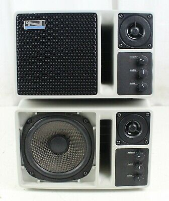 Lot of 2 Anchor Audio AN-130 50W Black Portable Powered Speaker Monitors-Tested