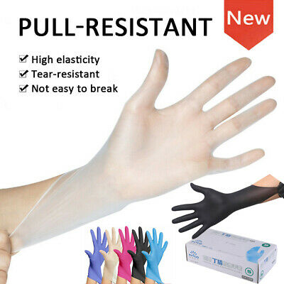 50-100Pcs Disposable PVC Gloves Protective Cleaning Supplies Untouch Hand Cover
