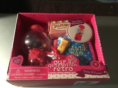 "New. Our Generation Retro Treats & Sweets Gumball Accessories Set For 18"" dolls"