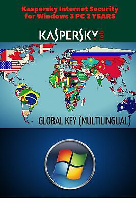 Kaspersky Internet Security for Windows 2020 3 PC 2 YEARS GLOBAL KEY