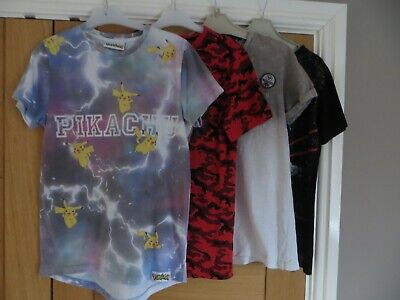 4 Boys T-Shirts Age 11 from Marks & Spencer, Next, Urban Outlaws and F&F