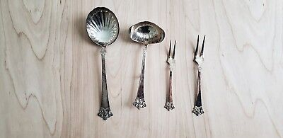NORWEGIAN NORWAY THEO OLSENS Eftf Sterling 'ANITRA' PATTERN Set of 4