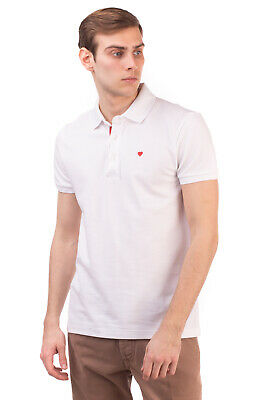 RRP €280 MOSCHINO Polo Shirt Size M Embroidered Heart Short Sleeve Made in Italy
