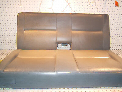 Mercedes W210 97-03 Wagon E320W rear LEATHER blue GRAY bench OE 2 Pieces 1 Seat