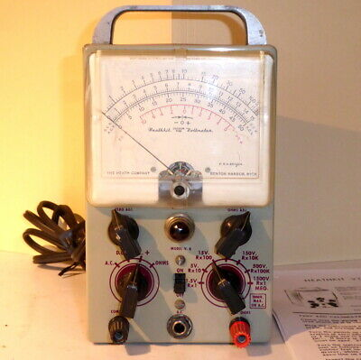 Heathkit V-6 VTVM Vacuum Tube Voltmeter V6 In Good Condition & Working Order