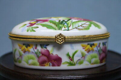 Decorative Exquisite Porcelain Painting Flowers Lucky Noble Handwork Jewelry Box