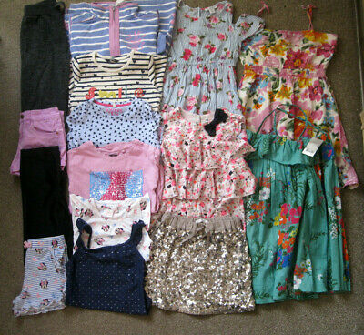 Girls Bundle,15 items,7-8yrs, Joules, Next, M&S, Lazy Jacks, H&M, Disney, George