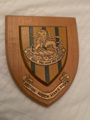 British South Africa Police Plaque (Rhodesia) 1960's
