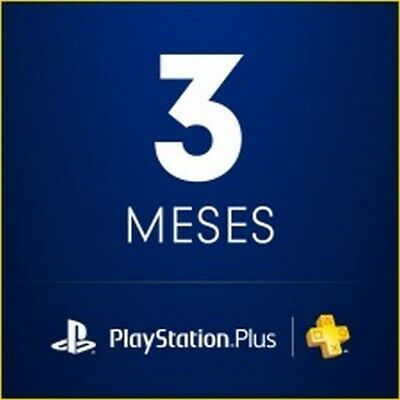 PS Plus Membership Subscription 3 Month PlayStation PS4-PS3-Vita [NO CODE] READ