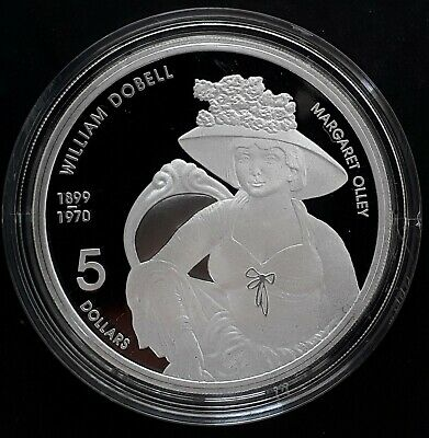 2007 Australia Margaret Olley by Dobell 1oz Silver (99.9%) Proof $5 coin