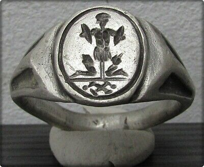 ** ROMAN LEGIONARY - X LEGIO ** Ancient Silver Legionary Roman Ring **AMAZING **