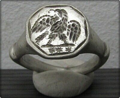 ** LEGIONARY EAGLE ** Ancient Silver Legionary Roman Ring **AMAZING **