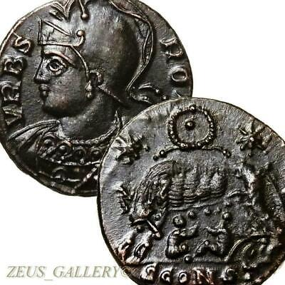 SHE WOLF suckling Twins.Constantine the Great RR! R4+ RIC 379 Ancient Roman Coin