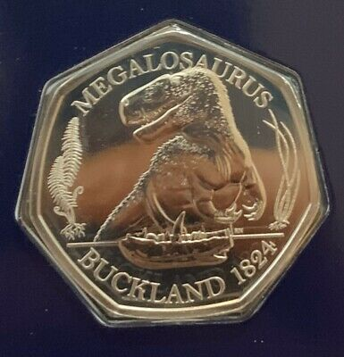 2020 Megalosaurus Dinosaur 50p Coin CERTIFIED BRILLIANT UNCIRCULATED Buckland